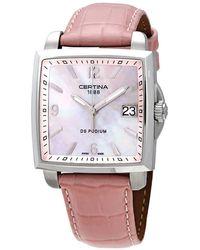 Certina Ds Podium Square Quartz Watch 00 - Pink