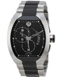 Movado Verto Black Dial Stainless Steel Mens Watch