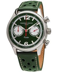 Frederique Constant Vintage Rally Healey Chronograph Automatic Green Dial Mens Watch -397hgr5b6
