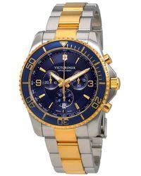 Victorinox Maverick Chronograph Blue Dial Mens Watch - Multicolour