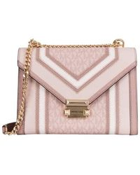 Michael Kors Whitney Large Logo And Leather Convertible Shoulder Bag - Multicolour