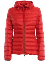 Moncler Amethyste Hooded Quilted Nylon Down Jacket - Red