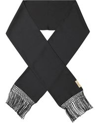 Burberry Knittted Fringed Scarf - Black