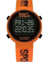 Superdry Pedometer Alarm Chronograph Quartz Digital Black Dial Unisex Watch