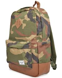Herschel Supply Co. Mens Travel Backpack White, Multi Heritage Backpack