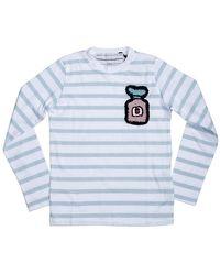 Michaela Buerger Girls T-shirt White, Blue I Love T-shirt
