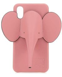 Loewe Elephant Leather Iphone 11 Case - Pink