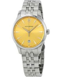 Victorinox Alliance Champagne Dial Ladies Watch - Metallic