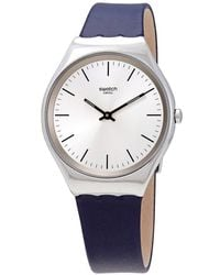 Swatch Skinazul Gray Dial Mens Watch