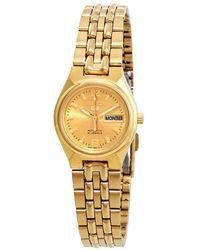 Seiko Series 5 Automatic Gold Dial Ladies Watch - Metallic