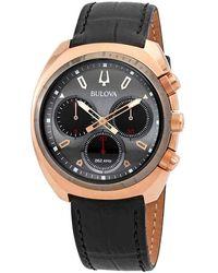 Bulova Curv Collection Chronograph Quartz Gray Dial Mens Watch - Multicolor