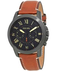 Fossil Grant Chronograph Black Dial Mens Watch