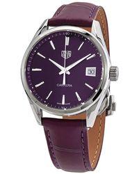 Tag Heuer Carrera Quartz Purple Dial Ladies Watch