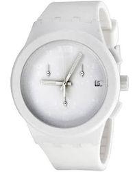 Swatch Originals Basic White Chronograph White Silicone Unisex Watch