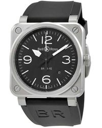 Bell & Ross - Aviation Automatic 42mm Mens Watch Br-03-92-steel - Lyst