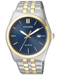 Citizen Eco-drive Blue Dial Mens Watch -66l
