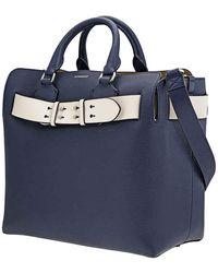 Burberry The Medium Leather Belt Bag - Blue