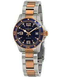 Longines Hydroconquest Blue Dial Two Tone Watch - Multicolour