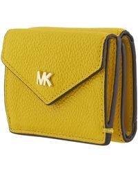 Michael Kors Mott Yellow Ladies Trifold Wallets