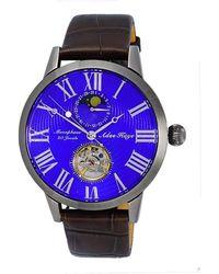 Adee Kaye Ak2269 Automatic Blue Dial Watch -gmbu - Multicolour