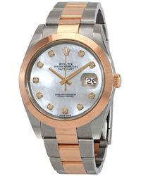 Rolex Datejust 41 Automatic Chronometer Diamond Mens Watch mdo - Pink
