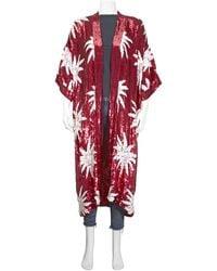 Filles A Papa Ladies Ruby Sequin Kimono, Brand - Red