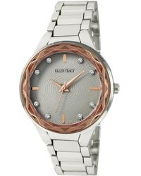 Ellen Tracy Quartz Gray Dial Watch - Multicolor