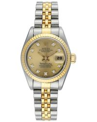 Rolex Pre-owned Datejust Automatic Chronometer Diamond Champagne Dial Ladies Watch  Cdj - Metallic