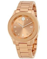 Movado - Bold Rose Dial Ladies Watch - Lyst