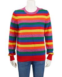 Moncler Ladies Multicolour Stripe Knitted Jumper