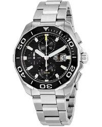 Tag Heuer Aquaracer Chronograph Automatic Mens Watch - Metallic