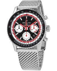 Breitling Navitimer 1 Automatic Swissair Special Edition Black Dial Mens Watch - Metallic