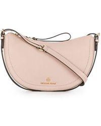 Michael Kors Camden Leather Cross Body Messenger Bag - Pink