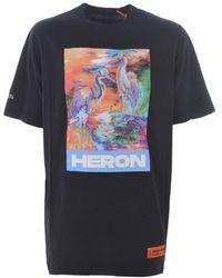 Heron Preston Mens Black / Multi Over Style Printed T-shirt