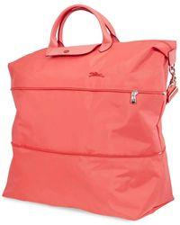 Longchamp Ladies Le Pliage Travel Bag In Pomegranate - Pink