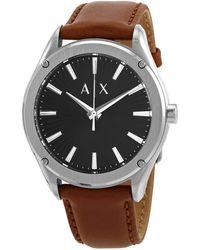 Armani Exchange Fitz Quartz Black Dial Mens Watch