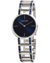 Calvin Klein Cheers Quartz Blue Dial Ladies Watch