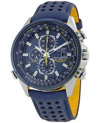 Citizen Eco-drive Blue Angels World Chronograph Atomic Timekeeping Watch With Day/date, At8020-03l