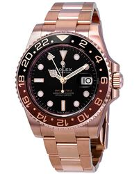 Rolex Gmt-master Ii Automatic Mens 18kt Everose Gold Oyster Coke Bezel Watch 126715bkso - Multicolor