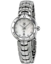 Tag Heuer Pre-owned Link Quartz Diamond White Mother Of Pearl Dial Ladies Watch - Metallic