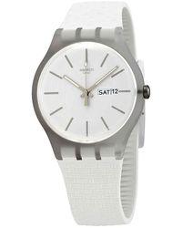 Swatch Bricablanc Quartz White Dial Unisex Watch