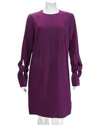 Victoria Beckham Ladies Purple Knotted Sleeve Dress, Brand
