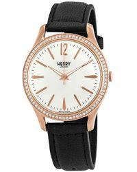 Henry London Richmond Crystal White Dial Watch -ss-0032 - Metallic