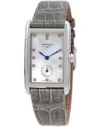 Longines Dolcevita Quartz Diamond Mother Of Pearl Dial Watch - Metallic