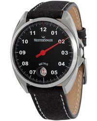 Meistersinger tris Automatic Black Dial Watch  902