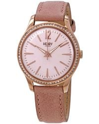 Henry London Shoreditch Crystal Pink Dial Ladies Watch -ss-0202
