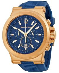 Michael Kors Dylan Chronograph Navy Dial Mens Watch - Multicolor