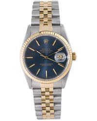 Rolex Pre-owned Datejust Automatic Chronometer Blue Dial Mens Watch  Blsj - Multicolour