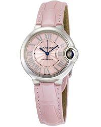Cartier Ballon Bleu Automatic Pink Dial Ladies Watch