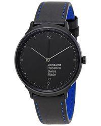 Mondaine Helvetica No1 New York Edition Unisex Watch - Black